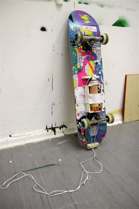 kunst und kunsthandwerk magazin rack skate paint device by dave the chimp proud magazine