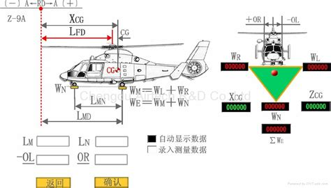 Aircraft Center of Gravity Measurement Software Reference Interface   CG Software (China