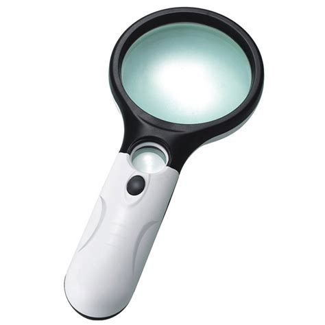 handheld magnifier with light 45x handheld 3 led light magnifier reading magnifying