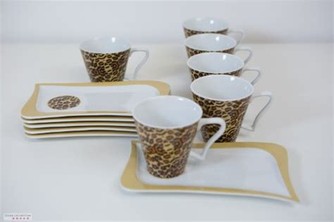 Modernes Kaffeegeschirr kaffeeservice modern leopard tinas collection test