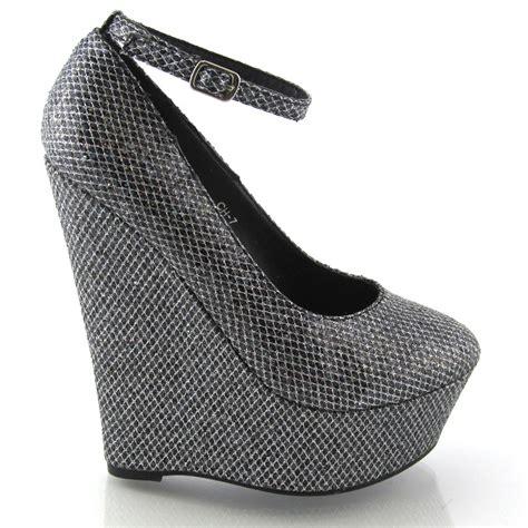 Wedges Fashion W Ch 624 high heel platform wedge womens toe