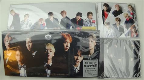 Bts Best Of Bts Reguler Korea Ver unboxing bts bangtan boys best of album korea japan edition limited normal version