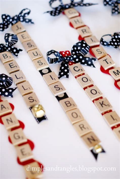 scrabble ornaments christmas crafting ideas pinterest
