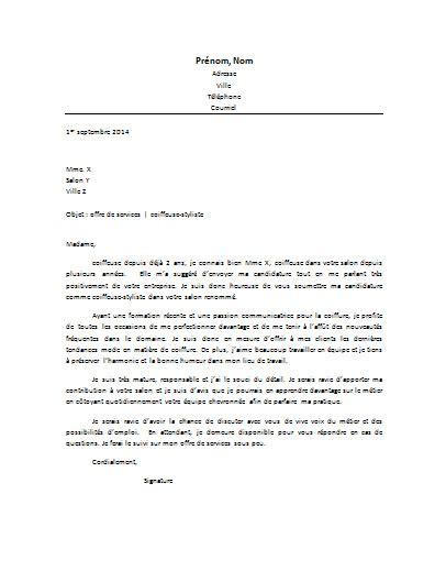 Exemple Lettre De Motivation Suite Recommandation Lettre De Motivation Coiffeur Styliste Lettre De Motivation