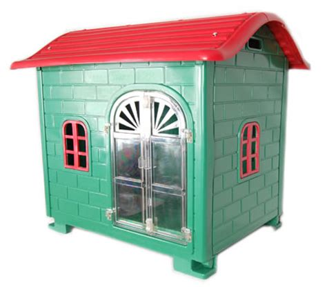 red dog house plastic green and red dog house crazy sales