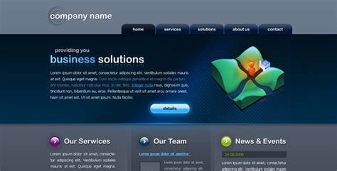 nice and clean business website by bookem themeforest