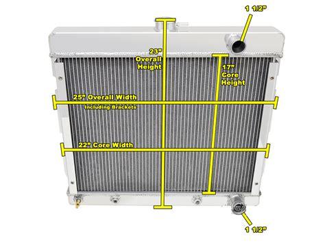 1969 dodge dart radiator 1969 dodge dart 2 8 liter l6 radiator all aluminum 3 row