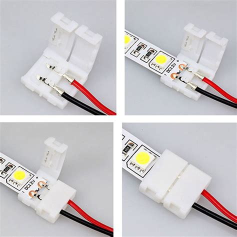 led light connectors 3528 5050 5050 rgb led adapter cable pcb light