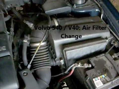 change  air filter   volvo   youtube