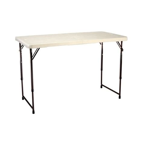 Lifetime Fold In Half Table by Lifetime 4 Ft Light Commercial Adjustable Height Fold In