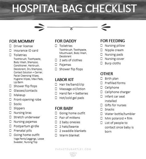 hospital bag checklist for c section for all ladies expecting preggo pregnant baby http