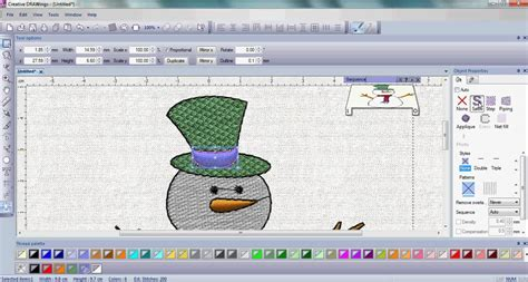 Drawings 8 Embroidery Software by Snowman With Creative Drawings 174 Embroidery