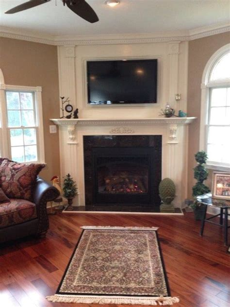Houzz Living Rooms With Fireplaces by Mendota Dxv45 Direct Vent Gas Fireplace 23833