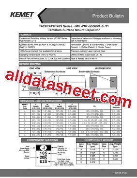 kemet capacitor datasheet cwr09cb105kma datasheet pdf kemet corporation