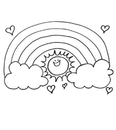 Sun Coloring Pages For Toddlers by Free Rainbpw Sun Colouring Page