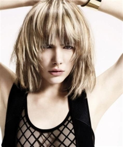 hairstyles with choppy bangs and layers medium hairstyles choppy layers