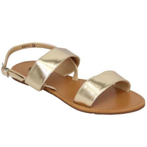 Wedges Flat Fashion flat sandals womens open toe buckle casual fashion summer ebay