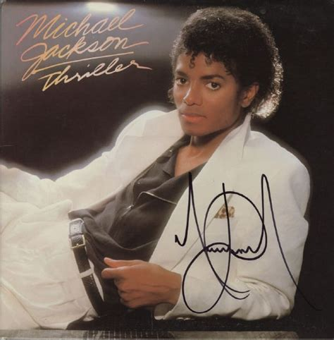 michael jackson thriller album biography lot detail michael jackson signed quot thriller quot album