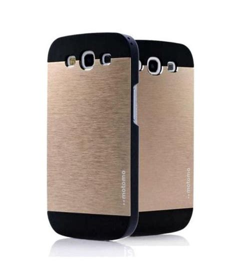 Motomo Metal Samsung S3 I9300 Alumuniumhardcasehard motomo ino metal for samsung s3 i9300 gold plain back covers at low prices