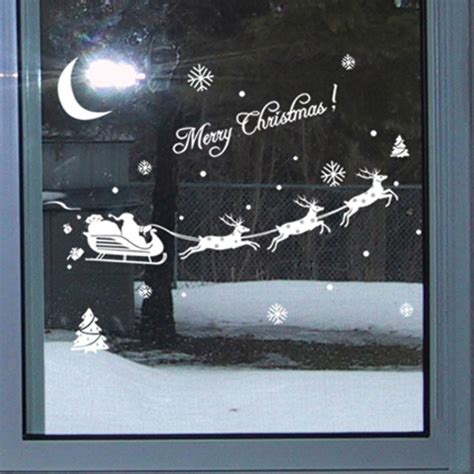 christmas santa reindeer vinyl decal removable wall