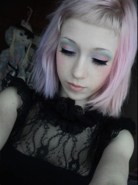 old goth bangs hairstyle cute pastel goth hair and makeup with baby bangs bangs
