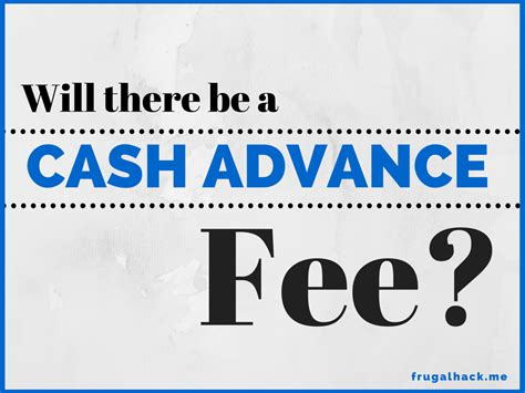 Gift Card Cash Advance - will there be a cash advance fee frugalhack me