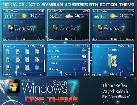 nokia themes windows vista windows 7 live theme for nokia c3 x2 01 themereflex