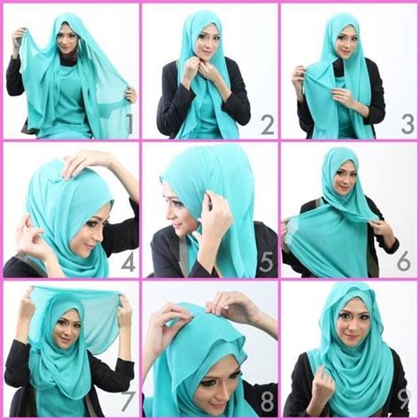 tutorial hijab ombre simple simple cute hijab tutorial hijab tutorial pinterest