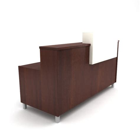 Wooden Reception Desk Brown Wooden Table Reception Desk 09 Am89 3d Model Cgtrader