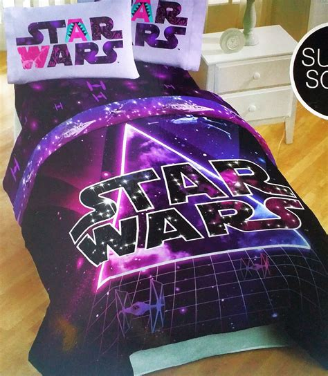 star wars bedroom sets star wars girls hyperspace 4 piece bedding set comforter