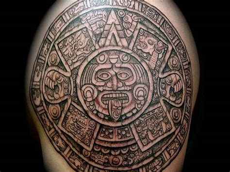 mayan tattoo chest aztec