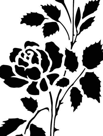 printable stencils rose printable rose stencils clipart best
