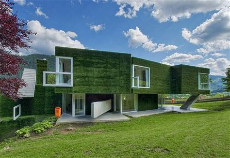 modern green homes fascinating modern home in austria is cloaked in a shroud