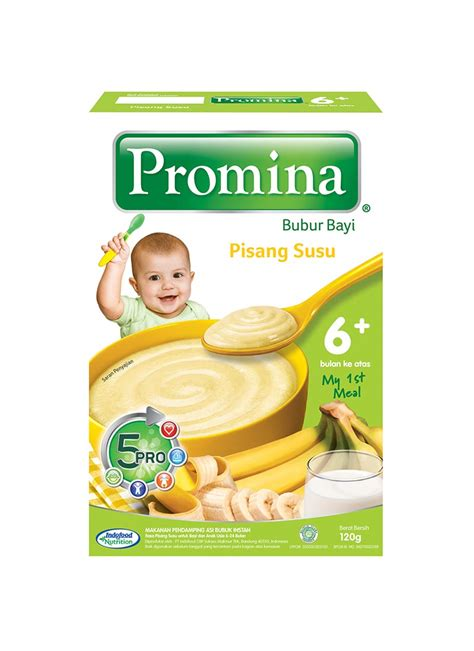 Promina Box Pisang 120g promina bubur bayi 6 pisang box 120g klikindomaret