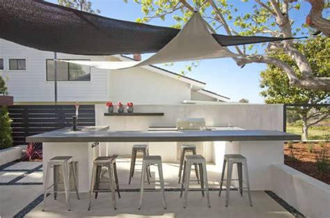 Kitchen Triangle With Island Backyard Shade Sails Landscaping Network