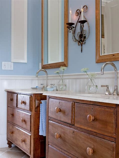 Antique Blue Bathroom Vanity by Photo Page Hgtv