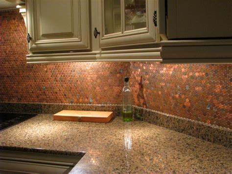 Penny Kitchen Backsplash 20 Amazing Diy Projects You Can Do With Old Pennies