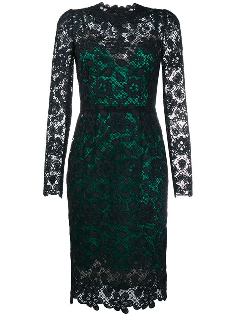 Boots Dg 76 lyst dolce gabbana contrast lining lace dress in black