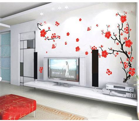 cherry decorations for home cherry blossom tree wall stickers home decorating photo