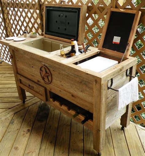 Handmade Coolers - outdoor kitchen new quot duper quot made weathered