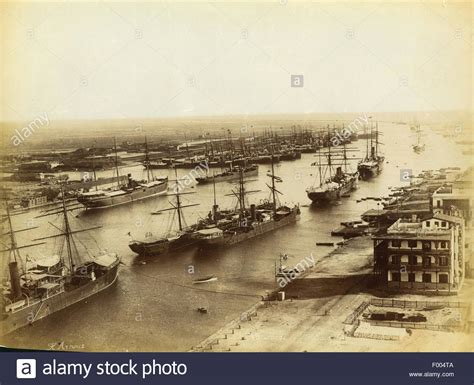 port said 209 1880s 209 steam ships anchored in port