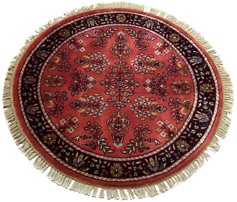 3 foot rugs 3 sarouk design rug 12184