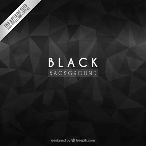 Premium Abstrac black background with abstract polygons vector premium