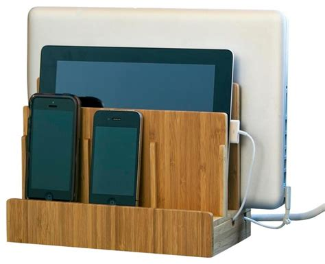 electronic charging station bamboo multi charging station modern charging stations