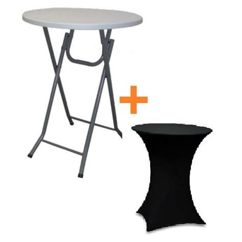 table mange debout but table bar pliante mange debout housse noir achat vente
