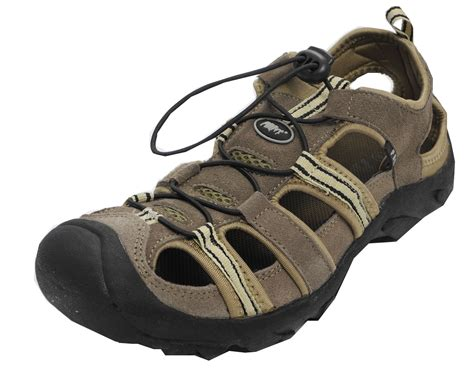 hiking sandals mens mens suede leather closed toe sandals summer hiking shoes