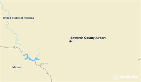 edwards county texas map edwards county airport ecu worldatlas