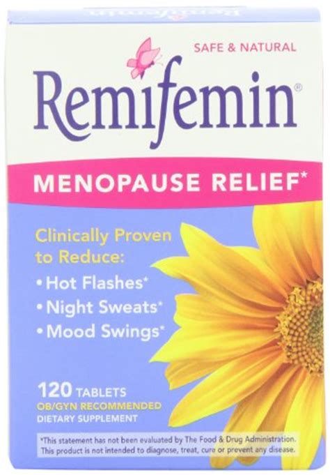 vitamins mood swings remifemin menopause herbal supplement estrogen free 120