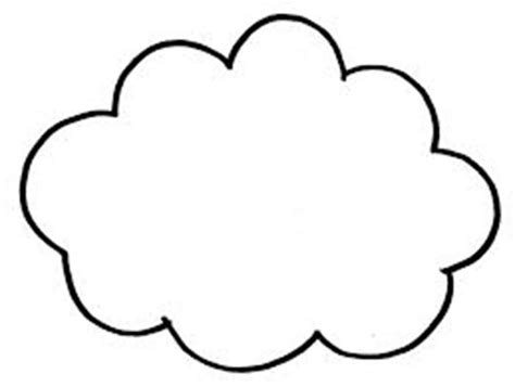 Free Cloud Coloring Sheet Clipart Best Coloring Pages Clouds