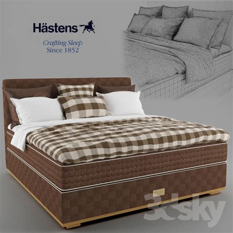 hastens beds 3d models bed hastens bed matress bedclothes